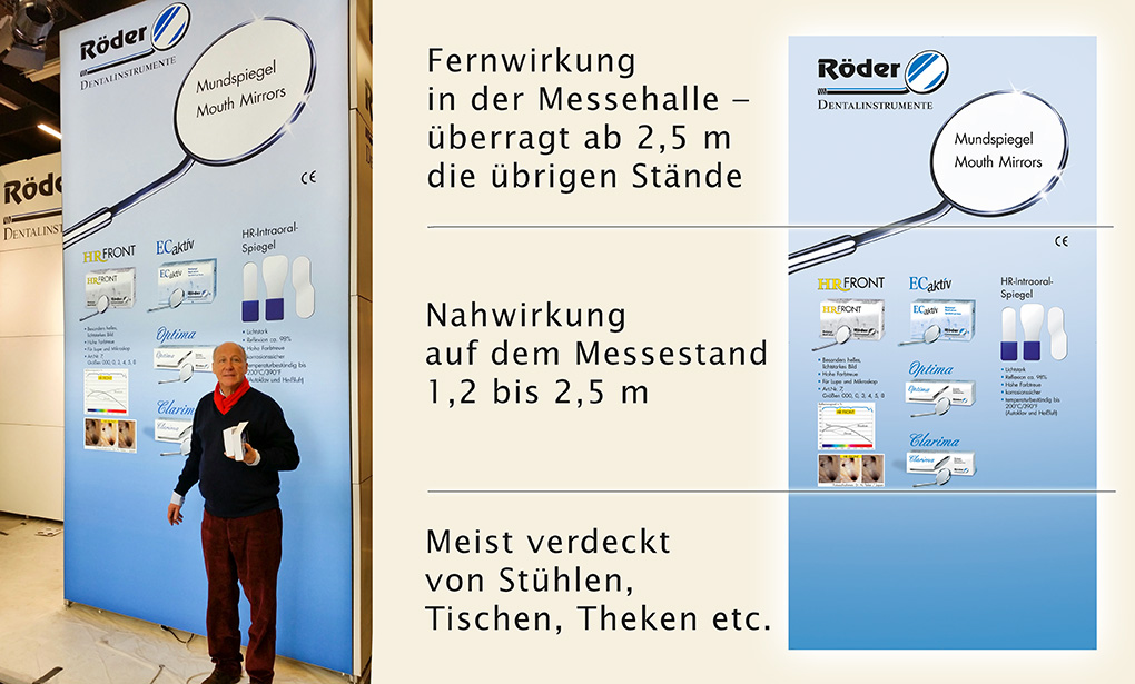 """Eine zufriedene Geschäftsleitung vor der neuen Leuchtwand signalisiert: """"Alles richtig gemacht, lieber Frank Fischer""""."""